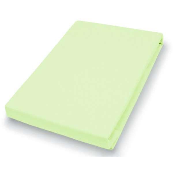 Hahn Haustextilien Jersey-Spannlaken Basic Größe 140-160x200 cm Farbe limone