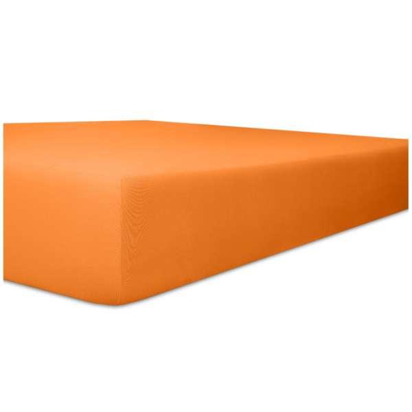 Kneer Flausch-Frottee Spannbetttuch für Matratzen bis 22 cm Höhe Qualität 10 Farbe orange