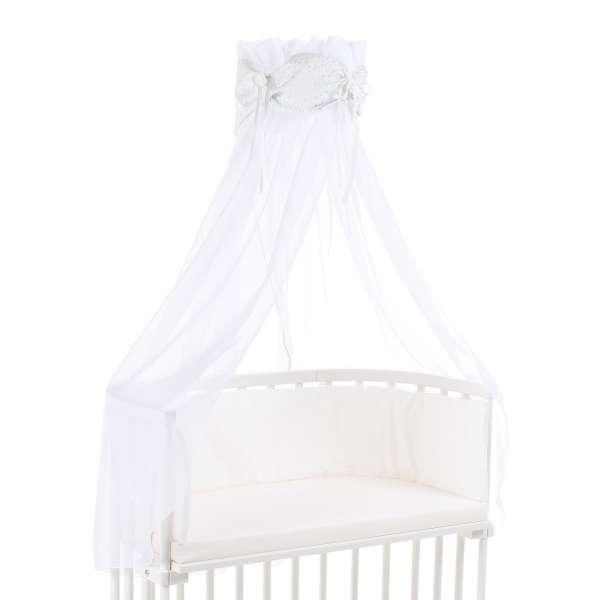 babybay Himmel Organic Cotton mit Schleife alle Modelle weiß Glitzersterne diamantblau