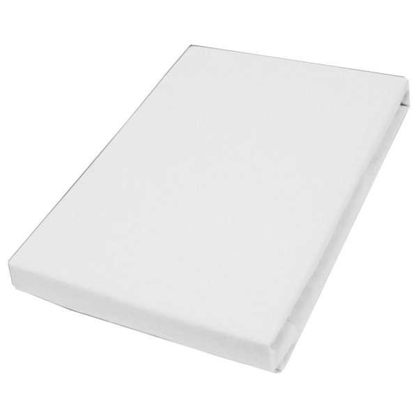 Hahn Haustextilien Jersey-Spannlaken Basic Größe 90-100x200 cm Farbe weiß