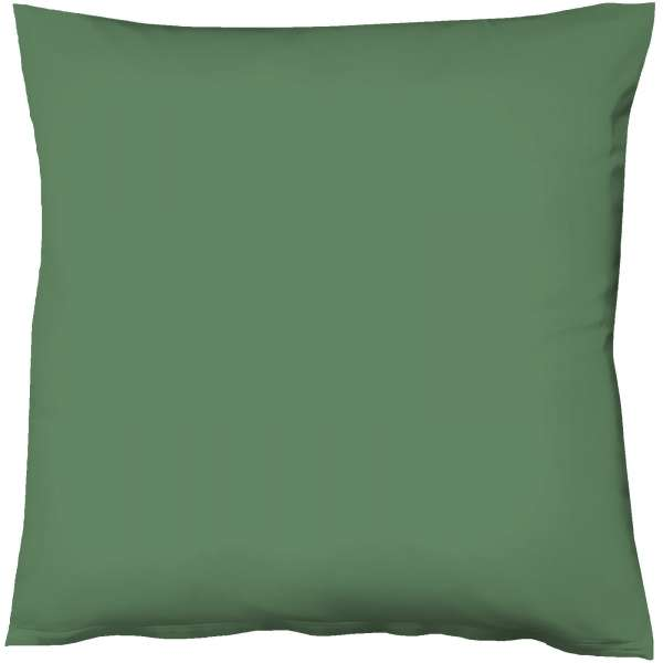 Fleuresse Mako-Satin-Kissenbezug uni colours Farbe jagdgrün 7060 Größe 40x40