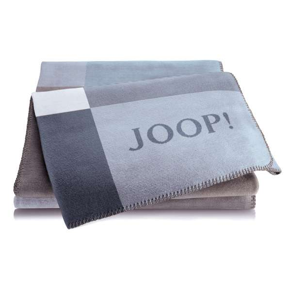 JOOP Wohndecke Mosaic Größe 150x200 cm Jeans-Graphit