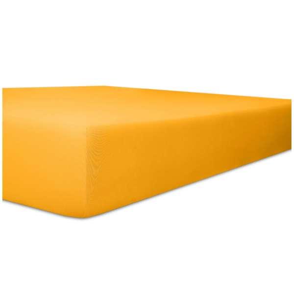 Kneer Edel-Zwirn-Jersey Spannbetttuch für Matratzen bis 22 cm Höhe Qualität 20 Farbe honig