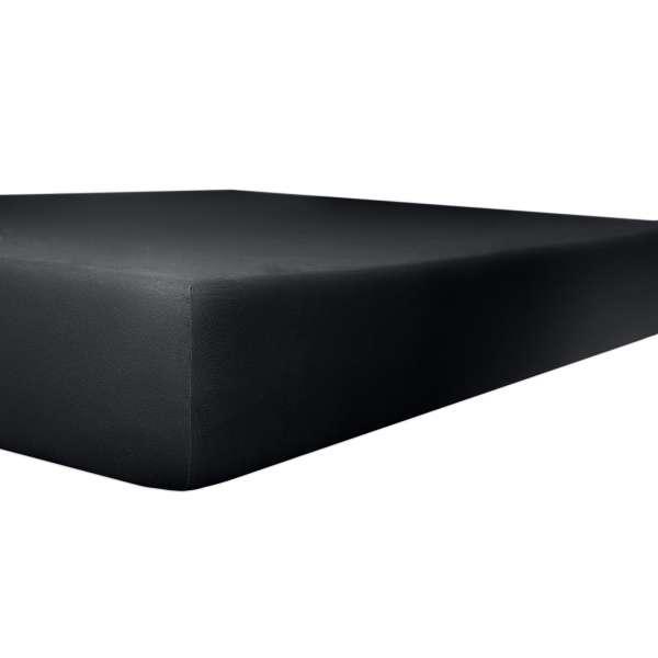 Kneer Vario Stretch Spannbetttuch Qualität 22 für Topper one onyx 100x200 cm