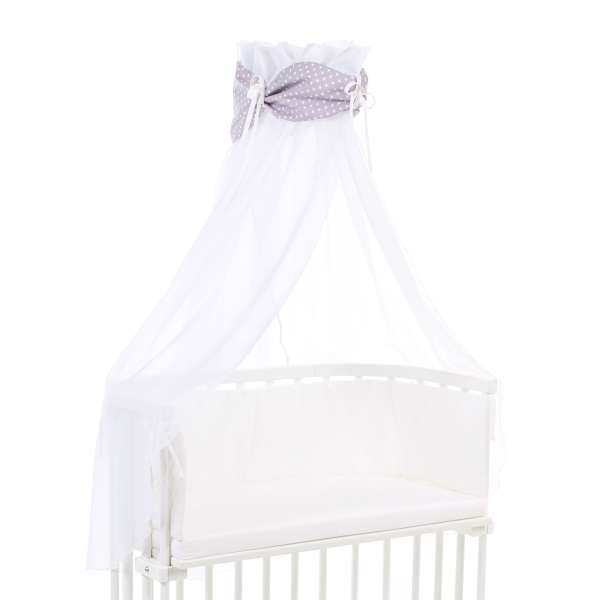 babybay Himmel Organic Cotton mit Schleife für alle Modelle, hellbraun Sterne weiß