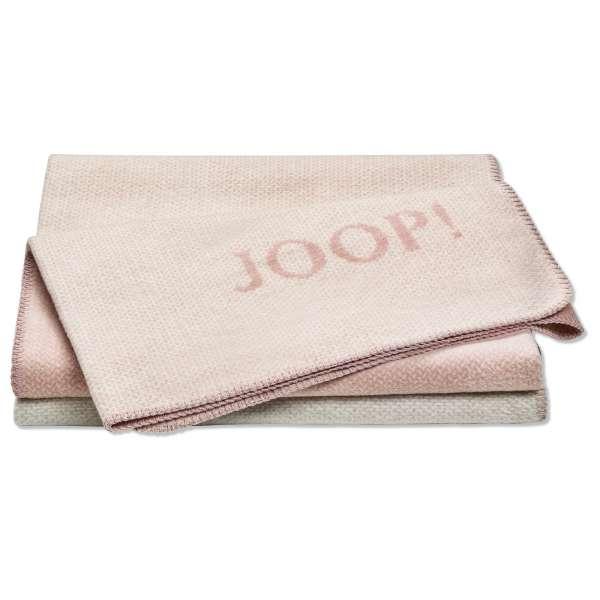 JOOP Wohndecke Limit Größe 150x200 cm Rauch-Rosé