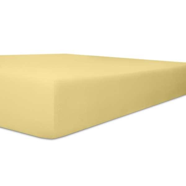 Kneer Vario Stretch Spannbetttuch Qualität 22 für Topper one creme 220x220 cm