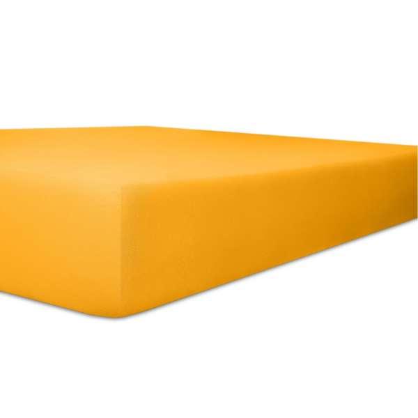 Kneer Vario Stretch Spannbetttuch Qualität 22 für Topper one honig 220x220 cm