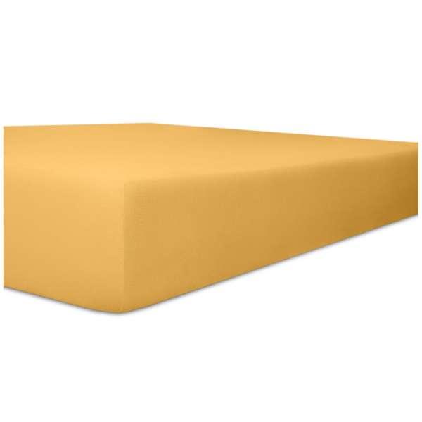 Kneer Exclusiv Stretch Spannbetttuch für hohe Matratzen & Wasserbetten Qualität 93 Farbe sand Größe