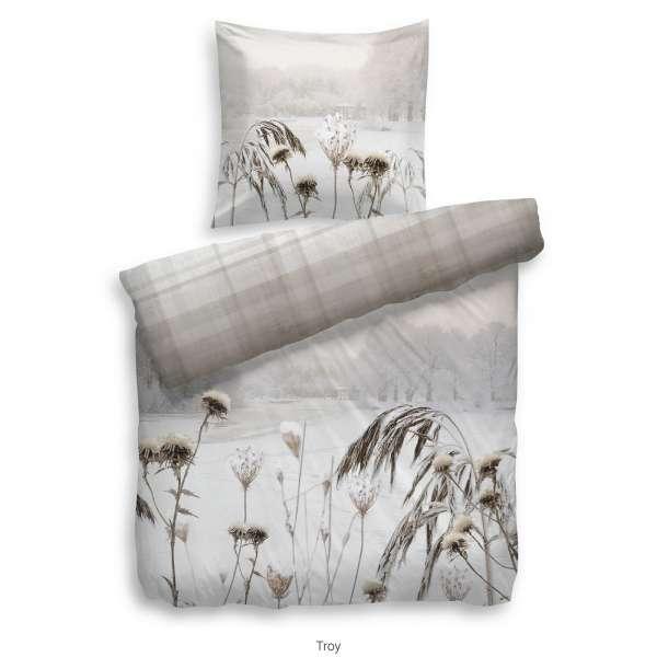 Heckett Lane Pure Cotton Bettwäsche Troy 135x200 cm naturell