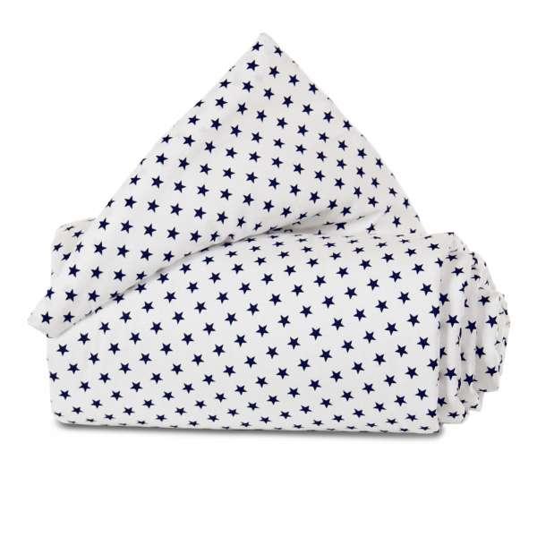 babybay Gitterschutz Organic Cotton für Verschlussgitter alle Modelle, weiß Sterne blau