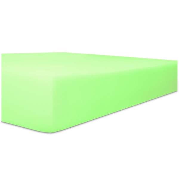 Kneer Edel-Zwirn-Jersey Spannbetttuch für Matratzen bis 22 cm Höhe Qualität 20 Farbe minze
