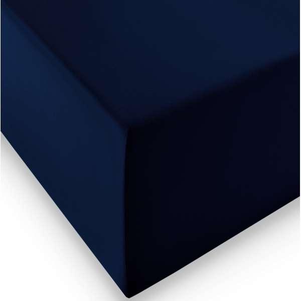Fleuresse Boxspring- und Wasserbetten Jersey-Spannlaken comfort XL Farbe 6061, 90/100x200 cm marine