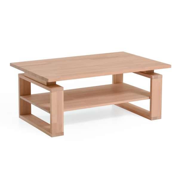 DICO Möbel Couchtisch CT 50 B Massivholz Wildeiche Größe 80x80 cm