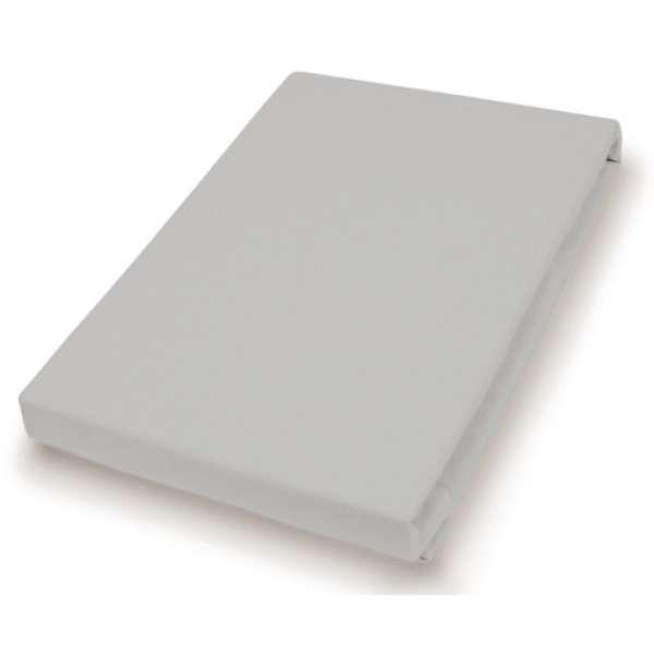 Hahn Haustextilien Jersey-Spannlaken Basic Größe 90-100x200 cm Farbe granit
