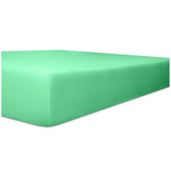 Kneer Edel-Zwirn-Jersey Spannbetttuch für Matratzen bis 22 cm Höhe Qualität 20 Farbe lagune