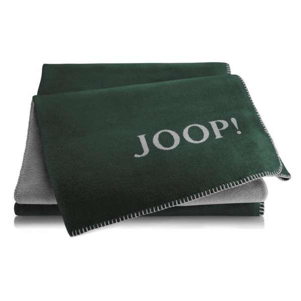 JOOP Wohndecke Uni-Doubleface Größe 150x200 cm Agave Graphit