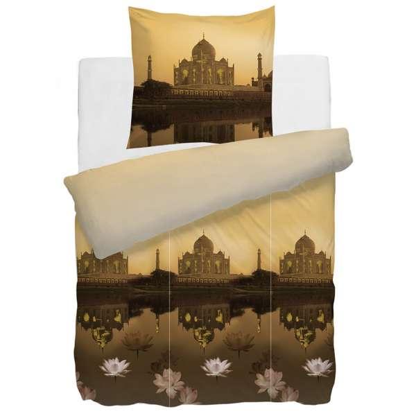 HnL Mako Satin Wendebettwäsche Taj Mahal 135x200 cm