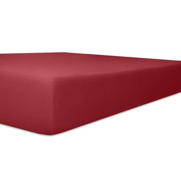 Kneer Vario Stretch Spannbetttuch Qualität 22 für Topper one karmin 120x200 cm