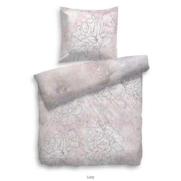 Heckett Lane Pure Cotton Bettwäsche Lucy 155x220 cm rosa