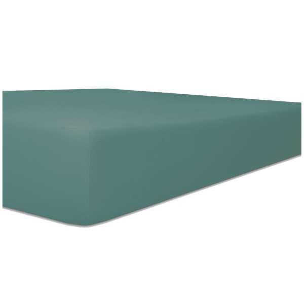 Kneer Edel-Zwirn-Jersey Spannbetttuch für Matratzen bis 22 cm Höhe Qualität 20 Farbe salbei