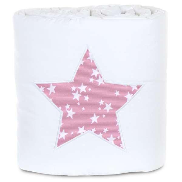 babybay Nestchen für Original, weiß Applikation Stern beere Sterne weiß