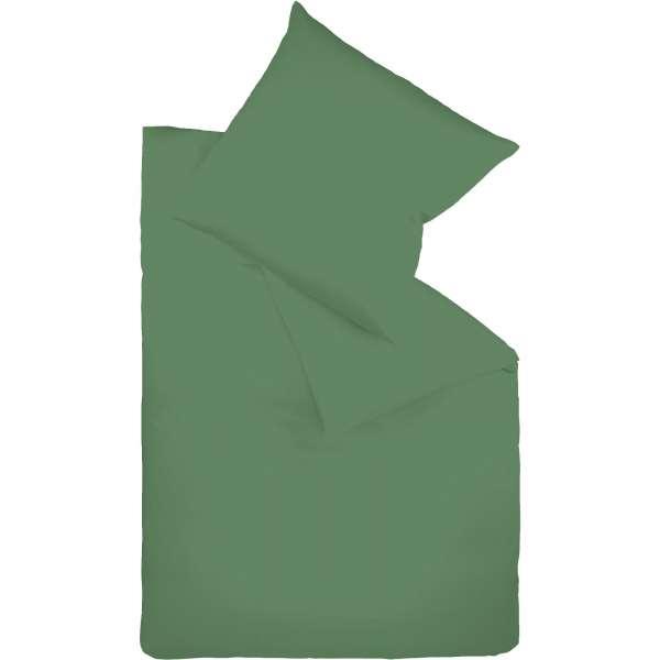 Fleuresse Mako-Satin-Bettwäsche colours jagdgrün 7060