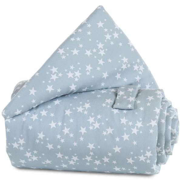 babybay Gitterschutz für Verschlussgitter alle Modelle, azurblau Sterne weiß