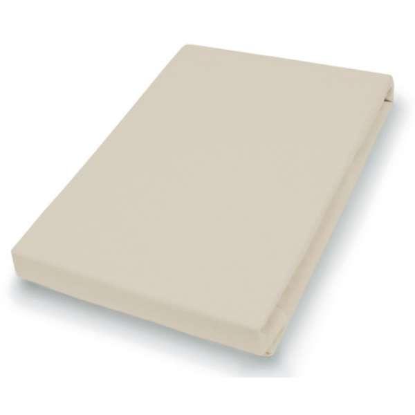 Hahn Haustextilien Jersey-Spannlaken Basic Größe 140-160x200 cm Farbe Düne