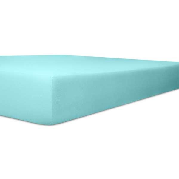 Kneer Vario Stretch Spannbetttuch Qualität 22 für Topper one türkis 220x220 cm