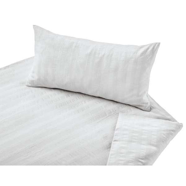 Cotonea Bio-Bettwäsche mit Seersucker-Streifen-Optik Farbe weiß