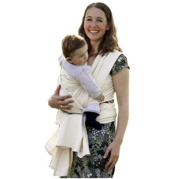 Cotonea Baby Tragetuch Bio Baumwolle IVN BEST Farbe Flamme
