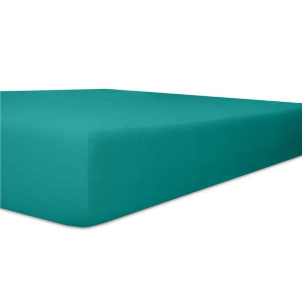 Kneer Vario Stretch Spannbetttuch Qualität 22 für Topper one petrol 220x220 cm