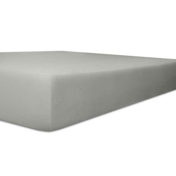 Kneer Exclusiv Stretch Spannbetttuch für hohe Matratzen & Wasserbetten Qualität 93, schiefer, Größe