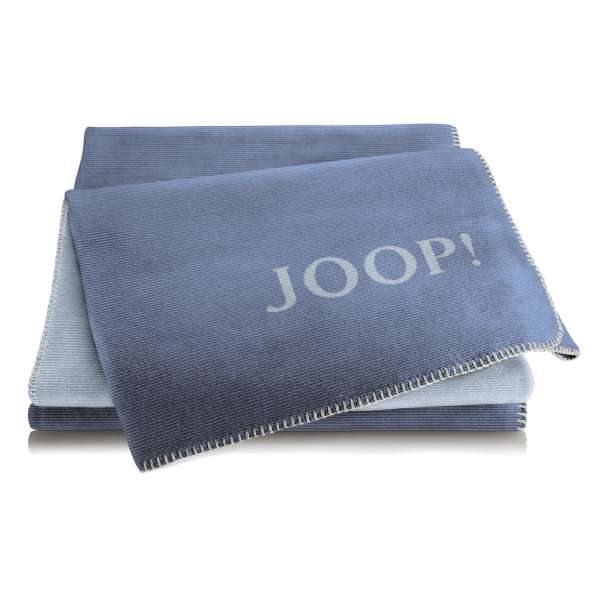 JOOP Wohndecke Melange Doubelface Größe 150x200 cm Jeans-Silber