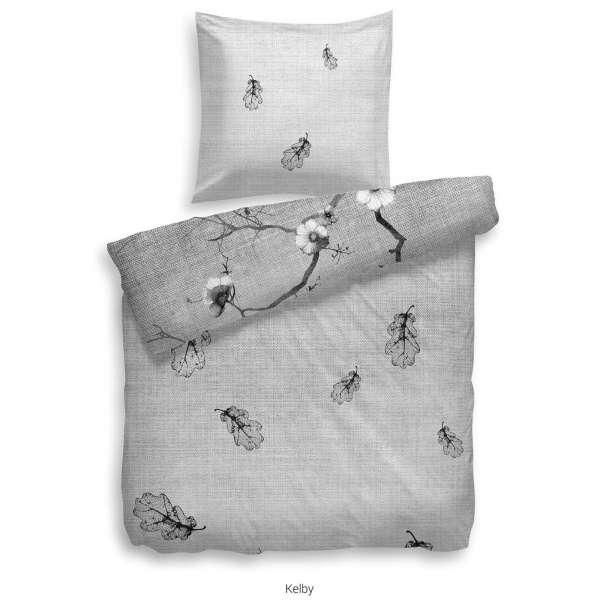 Heckett Lane Refined Satin Bettwäsche Kelby 155x220 cm schwarz weiß