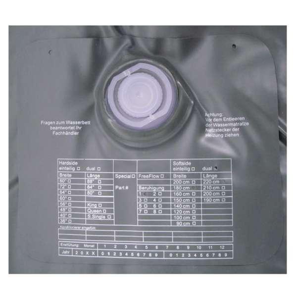 ABBCO Kuss Wassermatratze - Wasserkern Mesamoll II Softside für Duales WB 200x200 cm