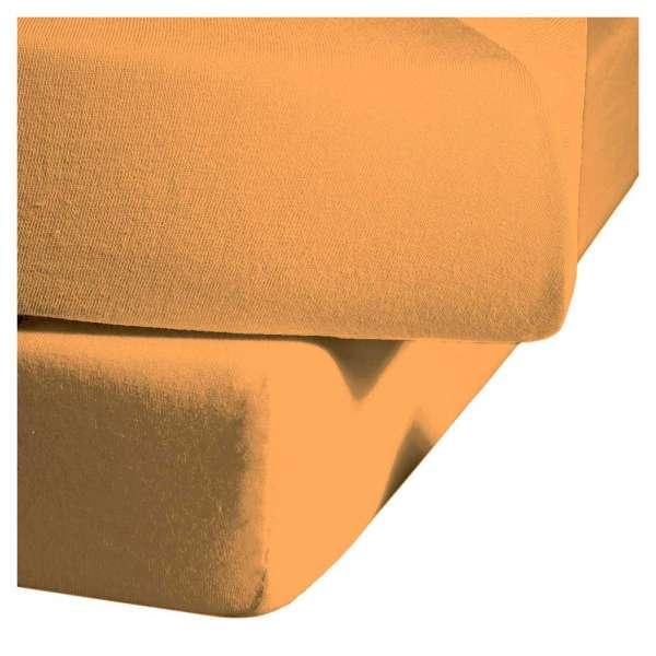 Fleuresse Mako-Satin-Spannlaken colours Farbe gold 2046