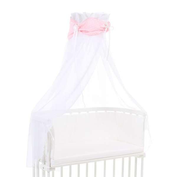 babybay Himmel Organic Cotton mit Schleife für alle Modelle, rose Sterne weiß