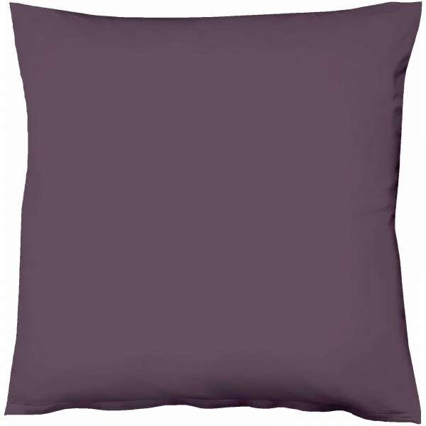 Fleuresse Mako-Satin-Kissenbezug uni colours lavendel 6062 Größe 80x80 cm