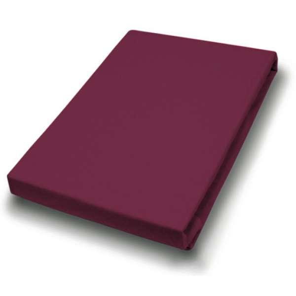 Hahn Haustextilien Jersey-Spannlaken Basic Größe 140-160 x 200 cm Farbe bordeaux