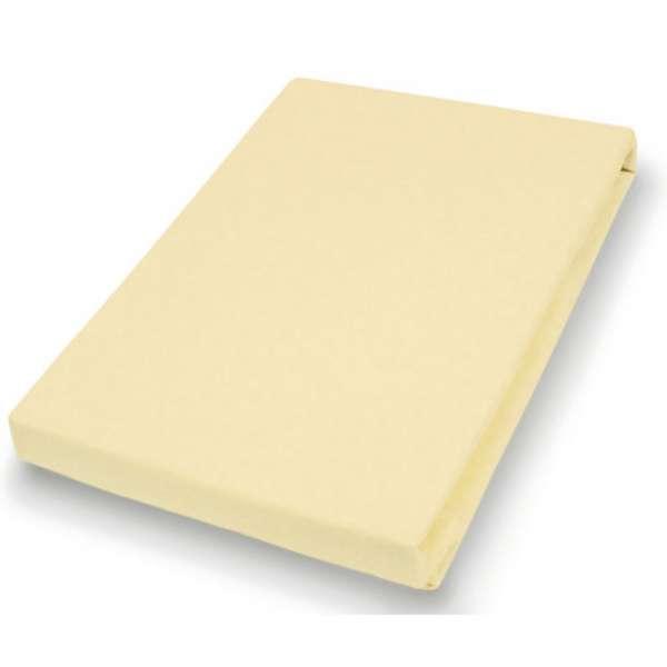 Hahn Haustextilien Jersey-Spannlaken Basic Größe 90-100x200 cm Farbe pfirsich