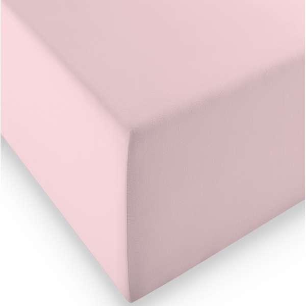 Fleuresse Boxspring- und Wasserbetten Jersey-Spannlaken comfort XL Farbe 4040 rose