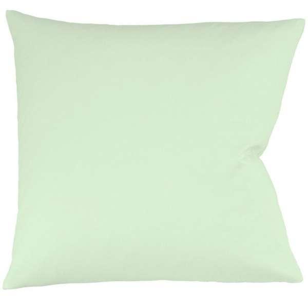 Fleuresse Interlock-Jersey-Kissenbezug uni colours pastellgrün 7059 Größe 80x80 cm