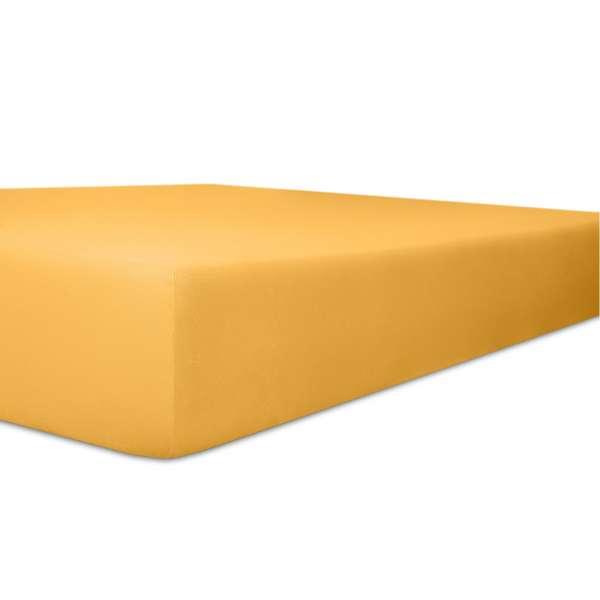 Kneer Vario Stretch Spannbetttuch Qualität 22 für Topper one gelb 220x220 cm