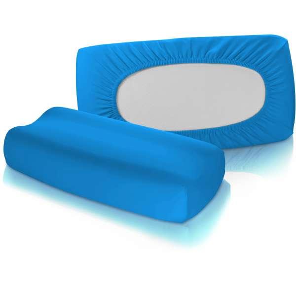 Fleuresse Vital-Comfort Jersey-Bezug für Nackenstützkissen meeresblau