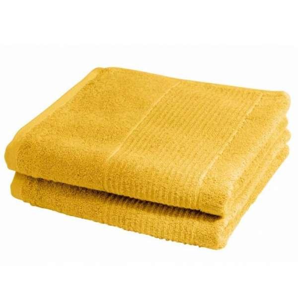 Fleuresse Frottier Handtuch 2-er Set Größe 50x100 cm, Farbe 3 gelb