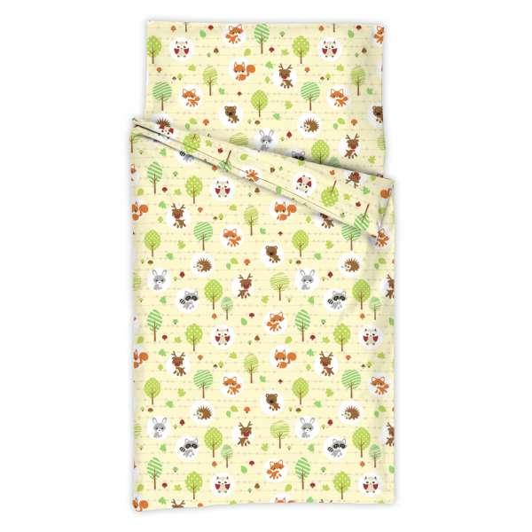 Kindertraum Kinderbettwäsche Kleine Waldbewohner, Größe 100x135 + 40x60 cm, natur