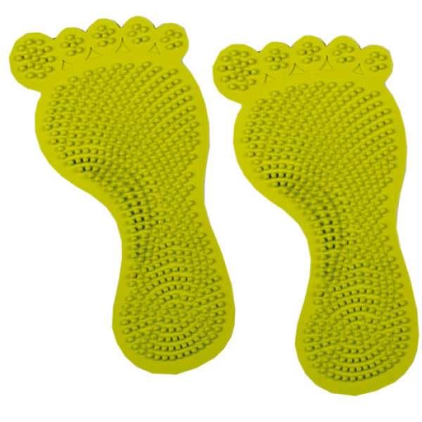Sorema Naturkautschuk Duscheinleger Foot green 6-teilig