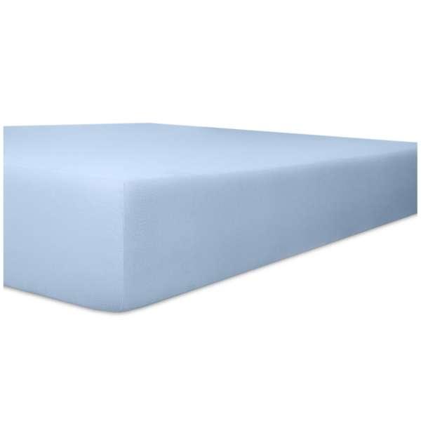 Kneer Nicky-Velour Spannbetttuch für Matratzen bis 22 cm Höhe Qualität 95 Farbe hellblau